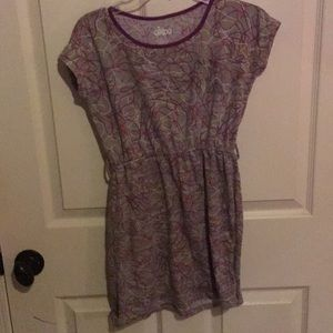 Grey and MultiColor Dress with pocket